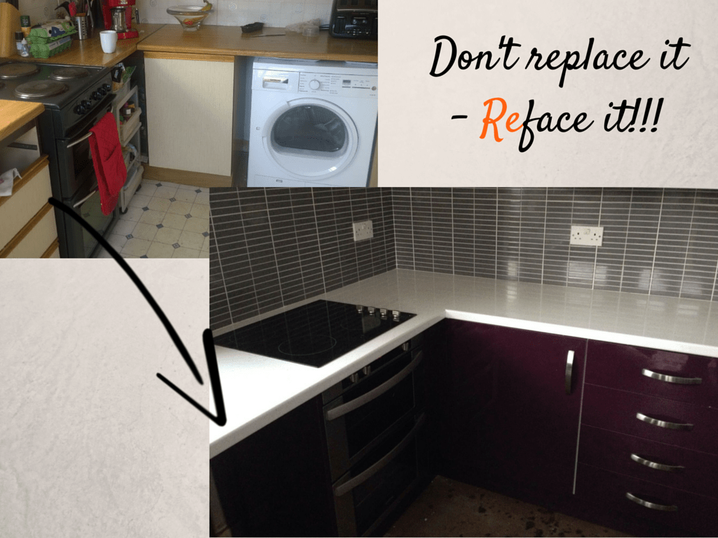 Kitchen cabinet refacing glasgow - Before And After From Mount Vernon Glasgow