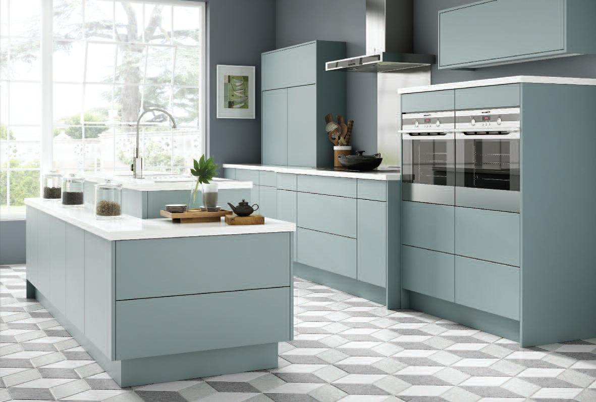 New supermatt finishes reface scotland for Coloured kitchen units uk